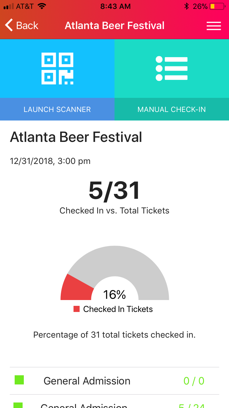 Freshtix Ticket Scanner Dashboard