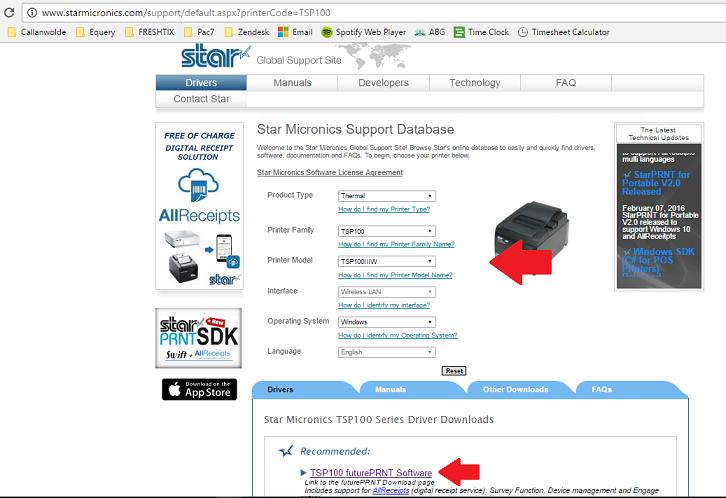 Star Thermal Ticket Printer Installation (Windows
