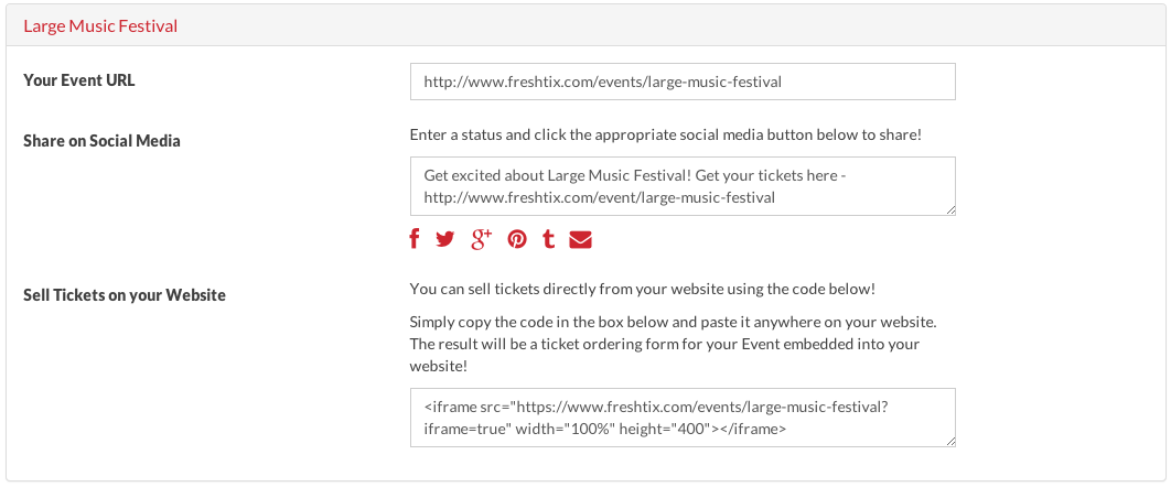 embed ticket sales